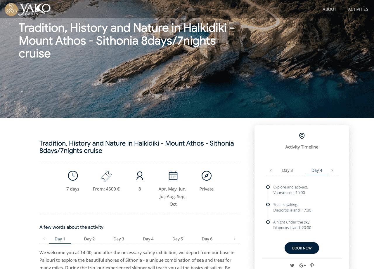 Tradition History and Nature in Halkidiki Mount Athos Sithonia 8days 7nights cruise kleesto