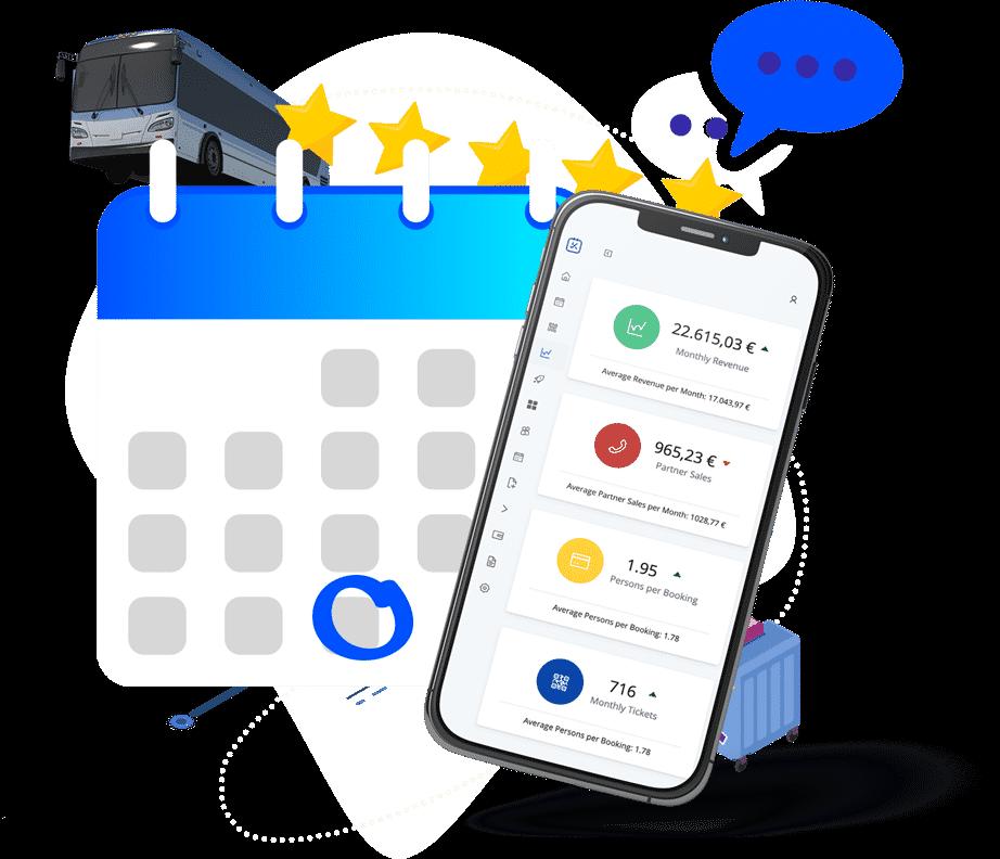 kleesto online booking system for tour operators mobile app